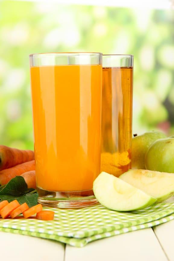 jus orange et carottes